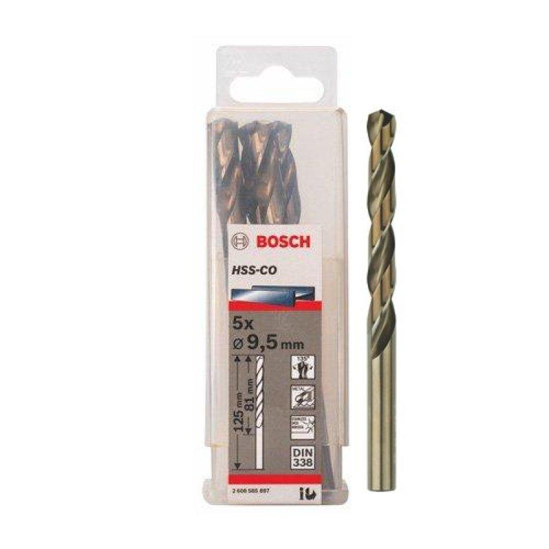 Bộ 5 mũi Sắt và INOX HSS-Co 9.5 mm