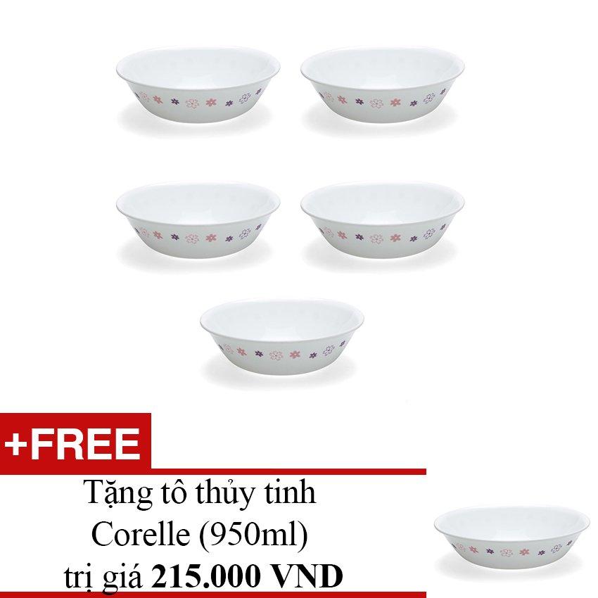 Bộ 5 tô thuỷ tinh Corelle 0.95L 1092316 + Tặng tô thủy tinh Corelle (950ml)