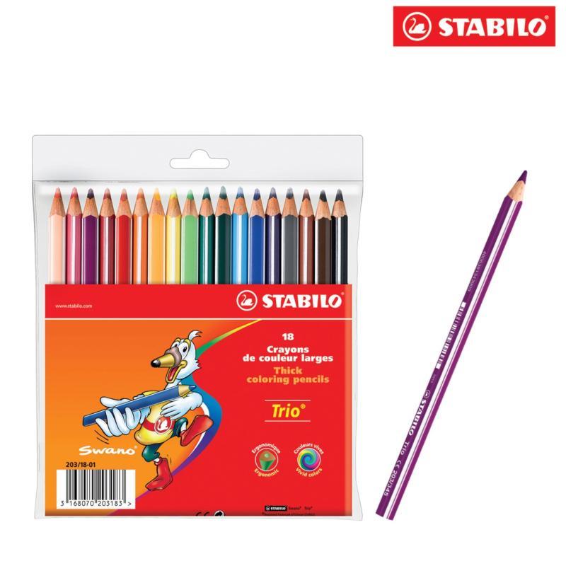 Mua Bộ 5 vỉ bút chì màu STABILO Trio Thick (loại 18 cây)