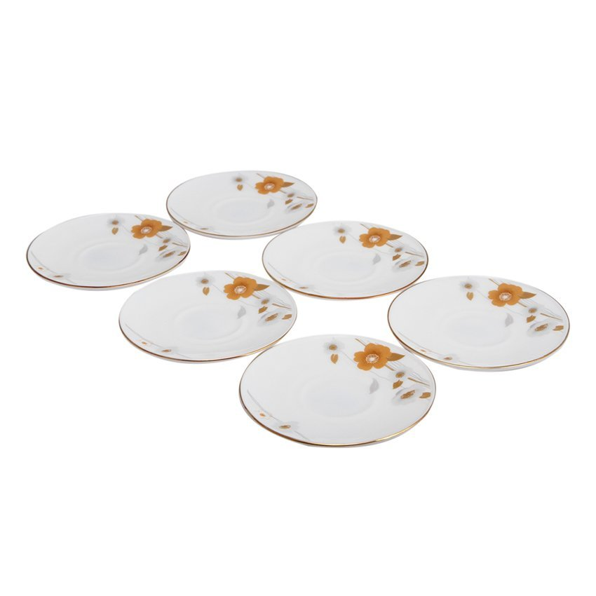 Hình ảnh Bộ 6 đĩa 5.5inch thủy tinh ngọc Vitriares 951P55/6 (Vàng)