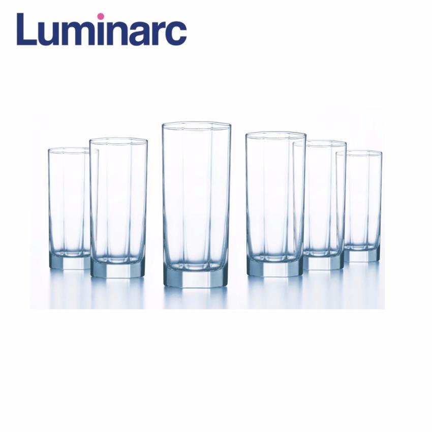 Hình ảnh Bộ 6 ly thủy tinh cao Luminarc Octime 330ml D9563 (Trong suốt)