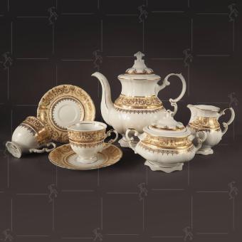 Bộ ấm trà mạ vàng