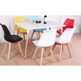 Bộ bàn Ăn Star 1.2m & 6 ghế có Nệm (được chọn màu)