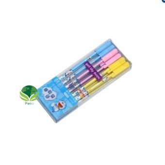 Bộ bút bi 12 chiếc tẩy xóa được sau khi viết ( Mực tím)
