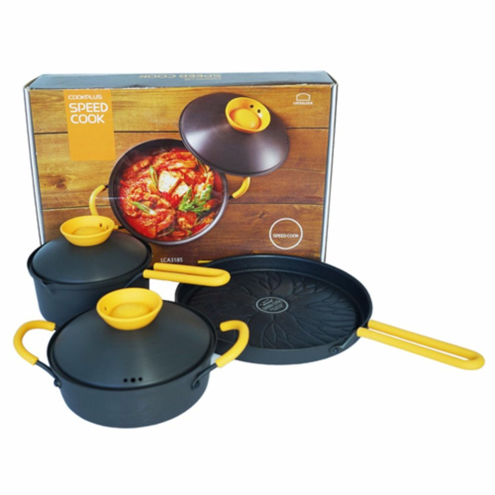 Bộ chảo, nồi, vỉ nướng Cookplus Speed Cook LCA3223YSP3