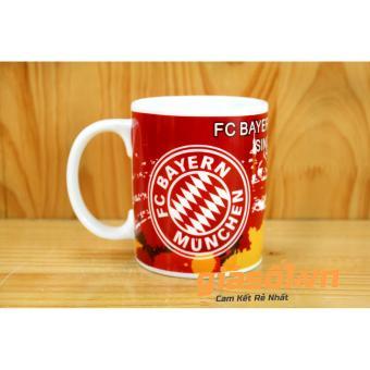 Bộ cốc uống nước + nắp hình câu lạc bộ bóng đá Bayern Munchen - 350ml Bát Tràng