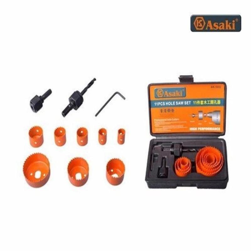 Bộ công cụ khoét lỗ gỗ và thạch cao 11 chi tiết Asaki AK-3682