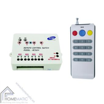 Bộ công tắc điều khiển từ xa 4 thiết bị TPE RC5G4 + Remote 15 nút R3.3