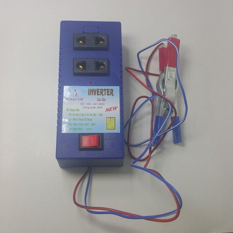 Bảng giá Mua Bộ đảo điện 12v ra 220v công suất 80w (Xanh)