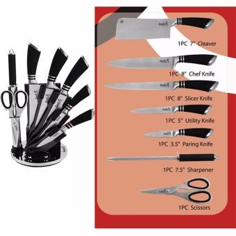 Bộ dao inox Goodlife 8 món chống gỉ (Tặng 1 hộp đựng dao xoay 360độ)