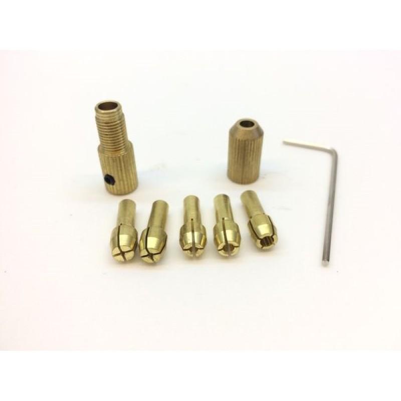 Bộ đầu kẹp mũi khoan đa năng - trục 3.17mm