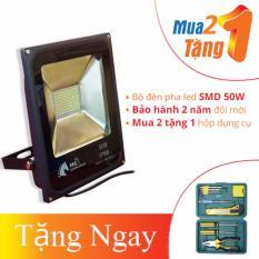 BỘ ĐÈN PHA LED NGOÀI TRỜI CHIP LED SMD CAO CẤP 50W – HC LIGHTING (MUA 2 TẶNG 1)