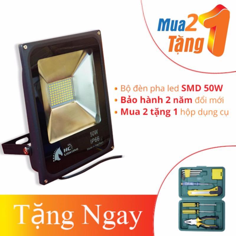 Bảng giá BỘ ĐÈN PHA LED NGOÀI TRỜI CHIP LED SMD CAO CẤP 50W – HC LIGHTING (MUA 2 TẶNG 1)