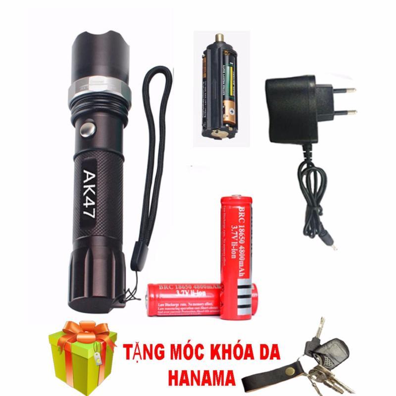 Bảng giá Bộ đèn pin sạc điện siêu sáng AK47 chống thấm nước(TẶNG PIN) ( tặng móc khóa )