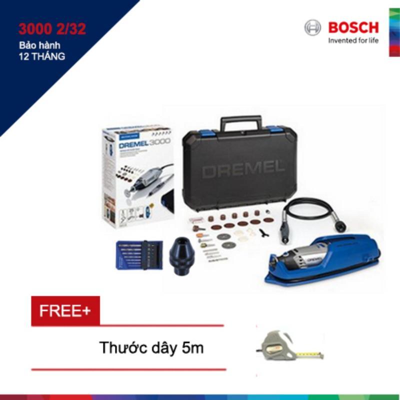 Bộ dụng cụ đa năng Dremel 3000 2/32 Promotion Kit  + Tặng thước dây Bosch 5m