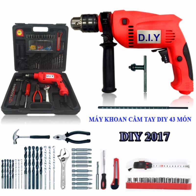 Bộ dụng cụ máy khoan cầm tay DIY 43 món (2017)