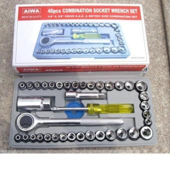 Bộ dụng cụ mở siết ốc và bugi 40 chi tiết