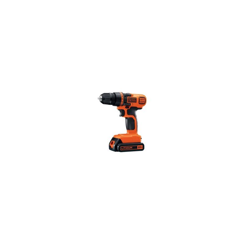 Bộ khoan không dây Black & Decker LDX120C 20-Volt MAX Lithium-Ion Cordless Drill/Driver