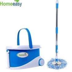 Bộ lau nhà 360 độ Homeeasy DS - 331 ( 2 bông trắng xanh dương )