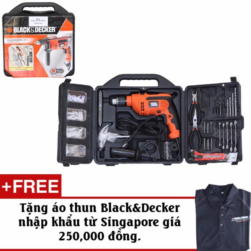 Bộ Máy Khoan 120 Chi Tiết-Black&Decker KR554 + Tặng kèm áo thun chính hãng Black&Decker
