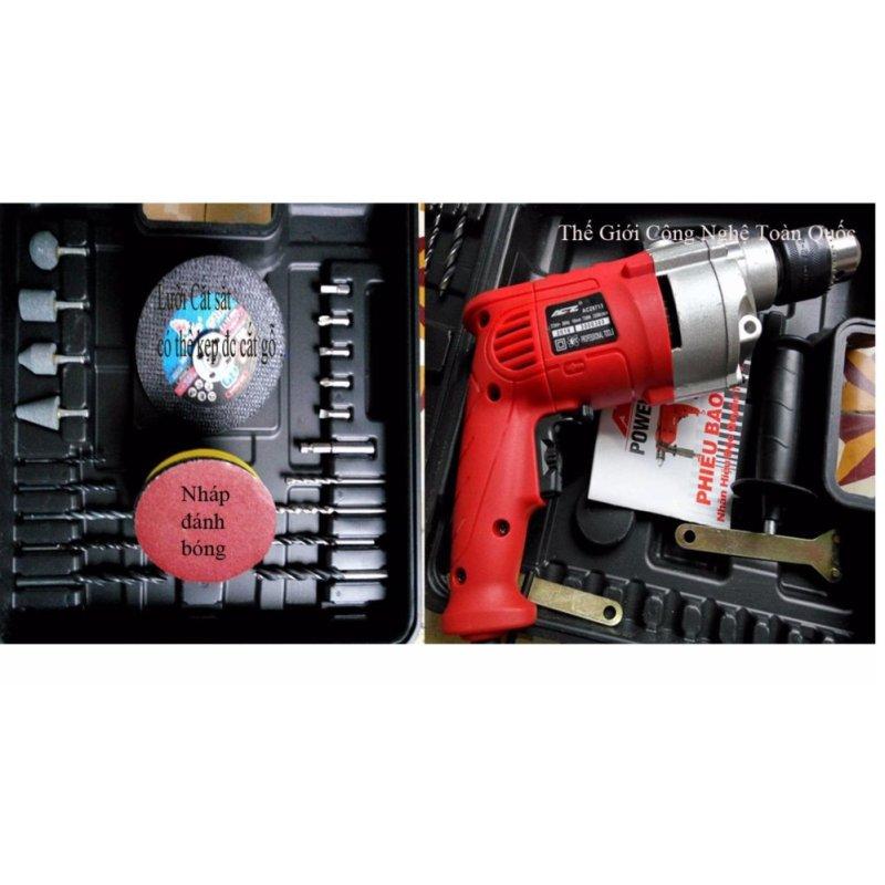 Bộ máy khoan đa năng máy khoan động lực có chức năng khoan tường khoan sắt hay khoan mài cắt đa năng