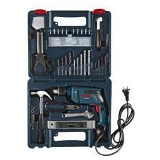Bộ máy khoan động lực và 100 phụ kiện Bosch GSB 550 Set (Xanh)