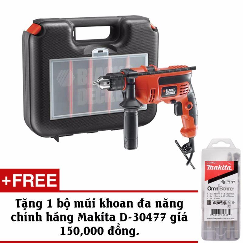 Bộ máy khoan và 37 chi tiết BLACK & DECKER KR704RE + Tặng kèm bộ mũi khoan đa năng Makita D-30477