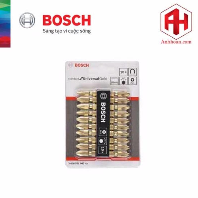 Bộ mũi vặn vít 10 cây Bosch 2608521042