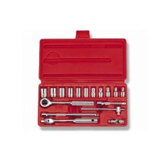 """Bộ típ 1/4"""" 17 cái hệ inch Crossman 99-81 (Đỏ)"""