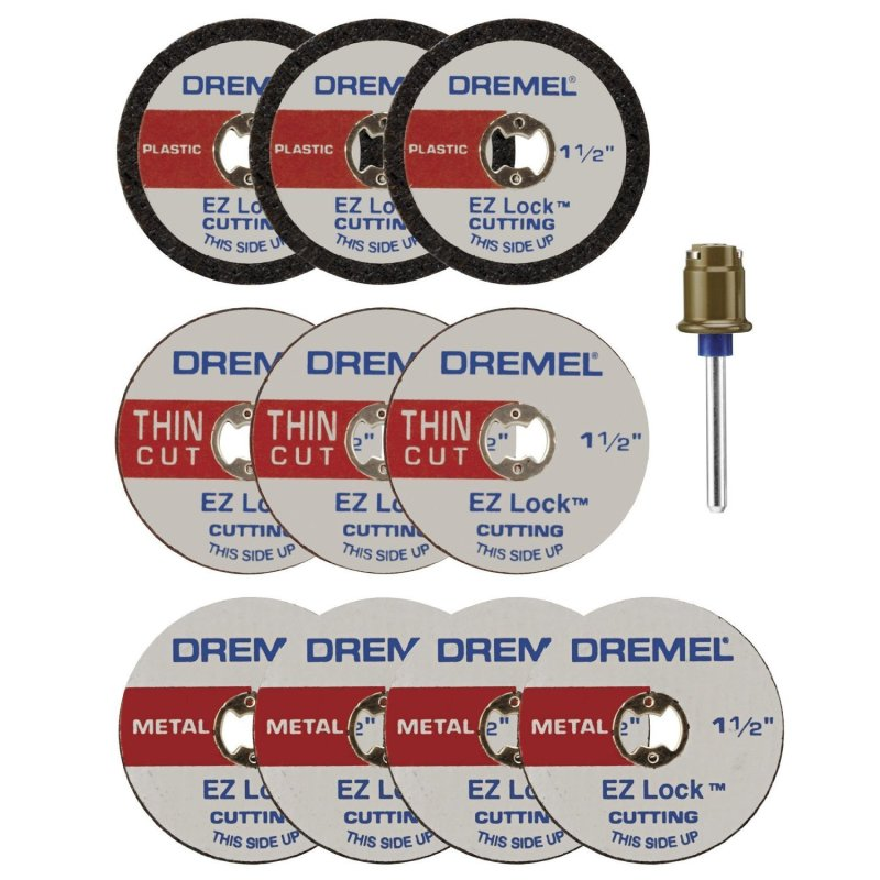 Bộ trục và 10 đĩa cắt 38 mm EZ Lock Dremel EZ688-01