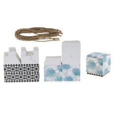 BolehDeals 12x Hawaiian Palm Leaves Boxes Candy Chocolate Box Wedding Gifts Favors - intl