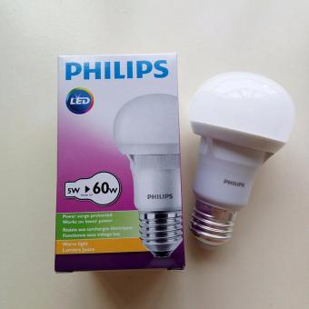 Bóng Đèn Philips Ecobright Ledbulb 5w E27 3000k A60 Ánh Sáng Vàng