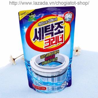 Bột vệ sinh tẩy lồng máy giặt Hàn Quốc 450Gr