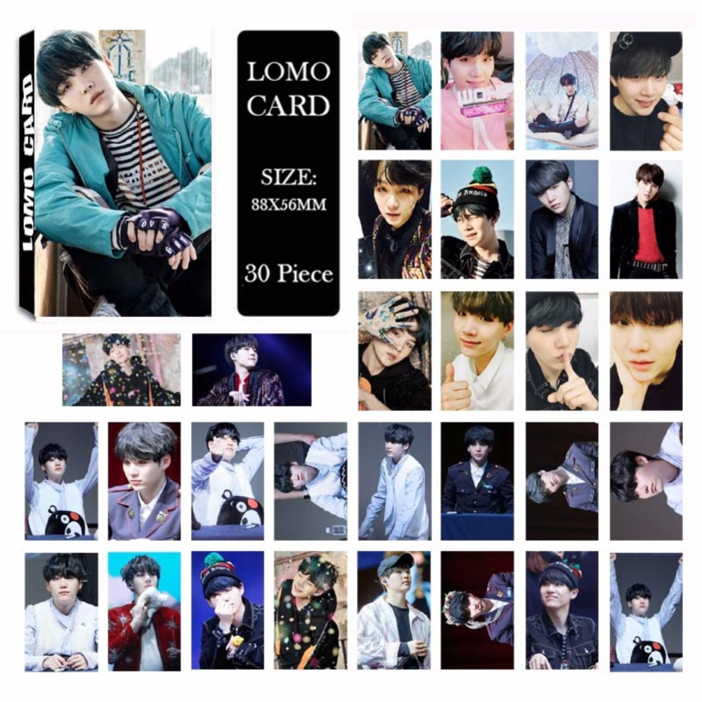 BTS Bangtan Boys YOU NEVER WALK ALONE SUGA Album LOMO Cards NewFashion Self Made Paper Photo