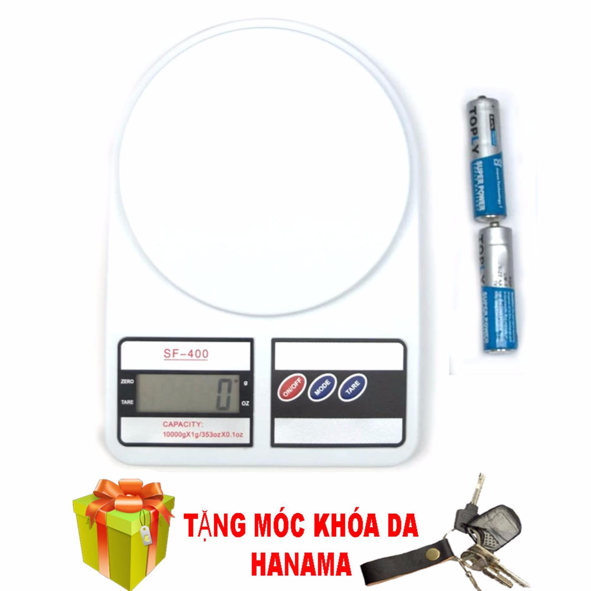 Cân điện tử nhà bếp 10kg + 2 pin(tặng móc khóa hanama)
