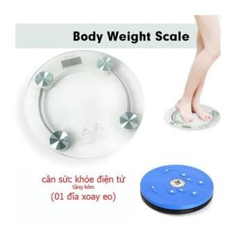 Cân sức khỏe điện tử PERSONAL SCALE 2003A ( tròn) + tặng kèm 01 đĩaxoay tập eo thon