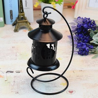 Candle Holder Vintage Style Hollow Out Pattern - intl