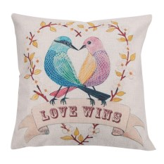 Bảng Giá Cartoon Bird Pattern Cotton Pillow Cover   welcomehome