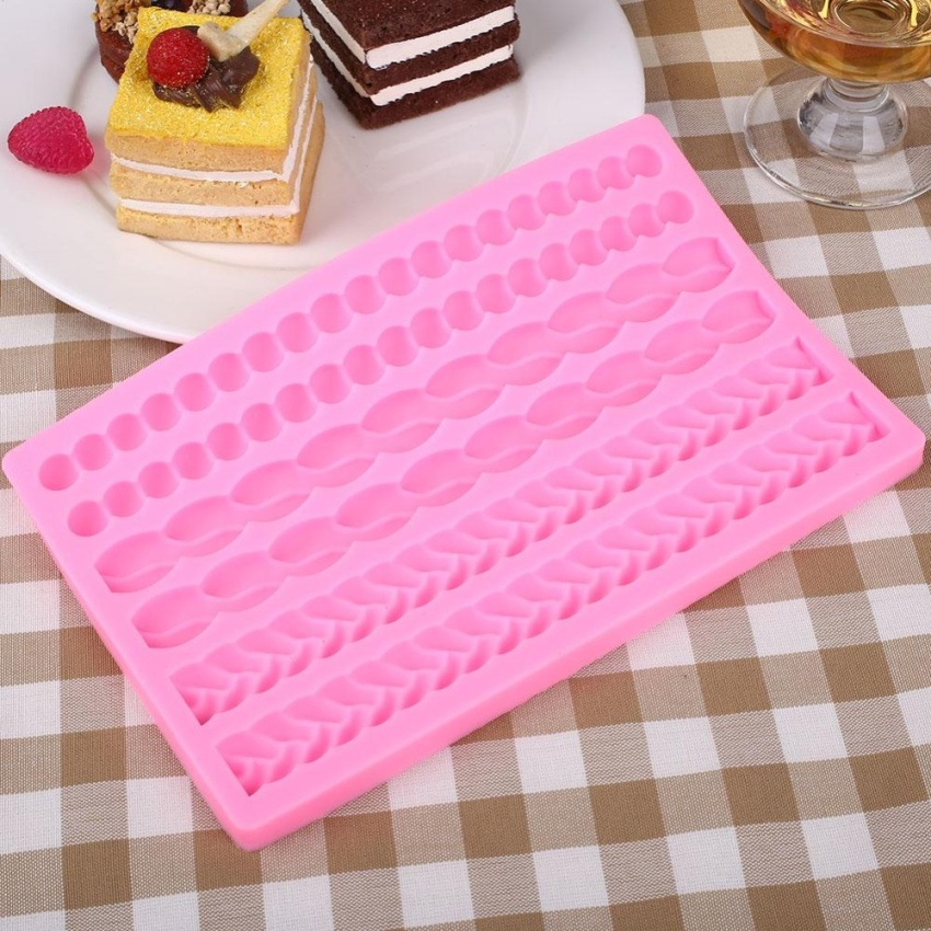 Hình ảnh Castle Brick Wall Shape Cake Sugarcraft Home Kitchen Mould Molds Maker - intl