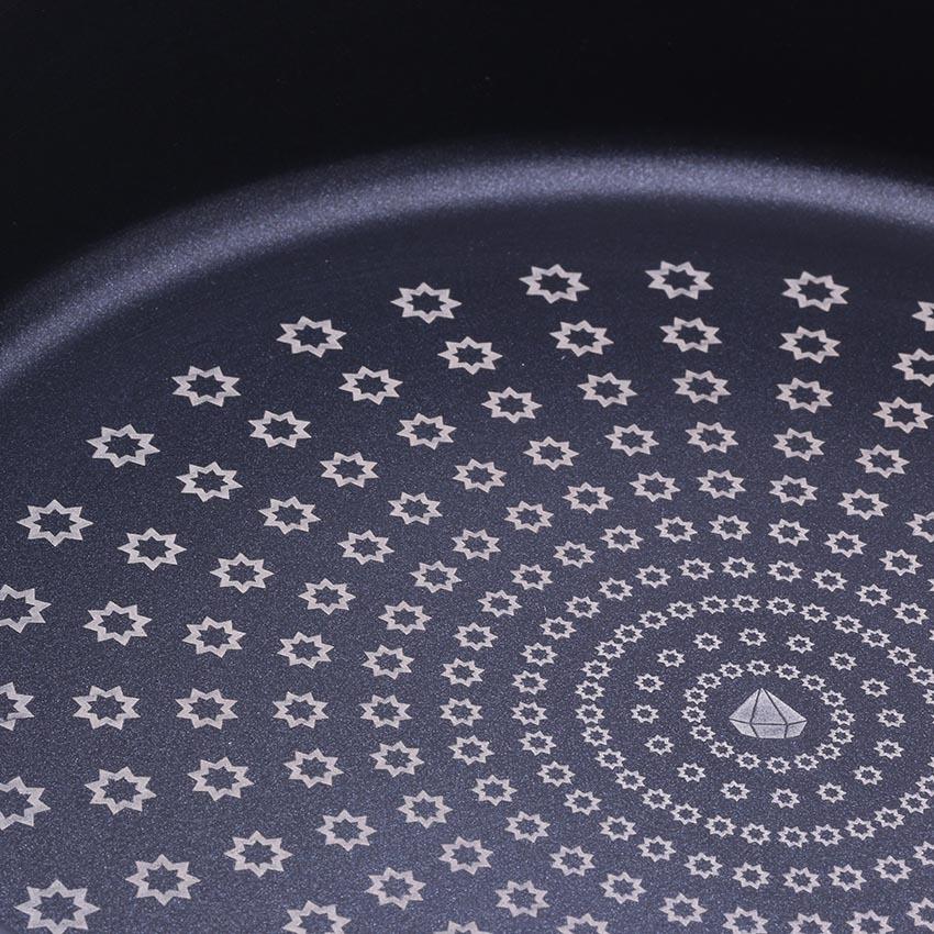 Chảo chống dính kim cương Cook Way Hàn Quốc NFDP-30 cm (Đen)