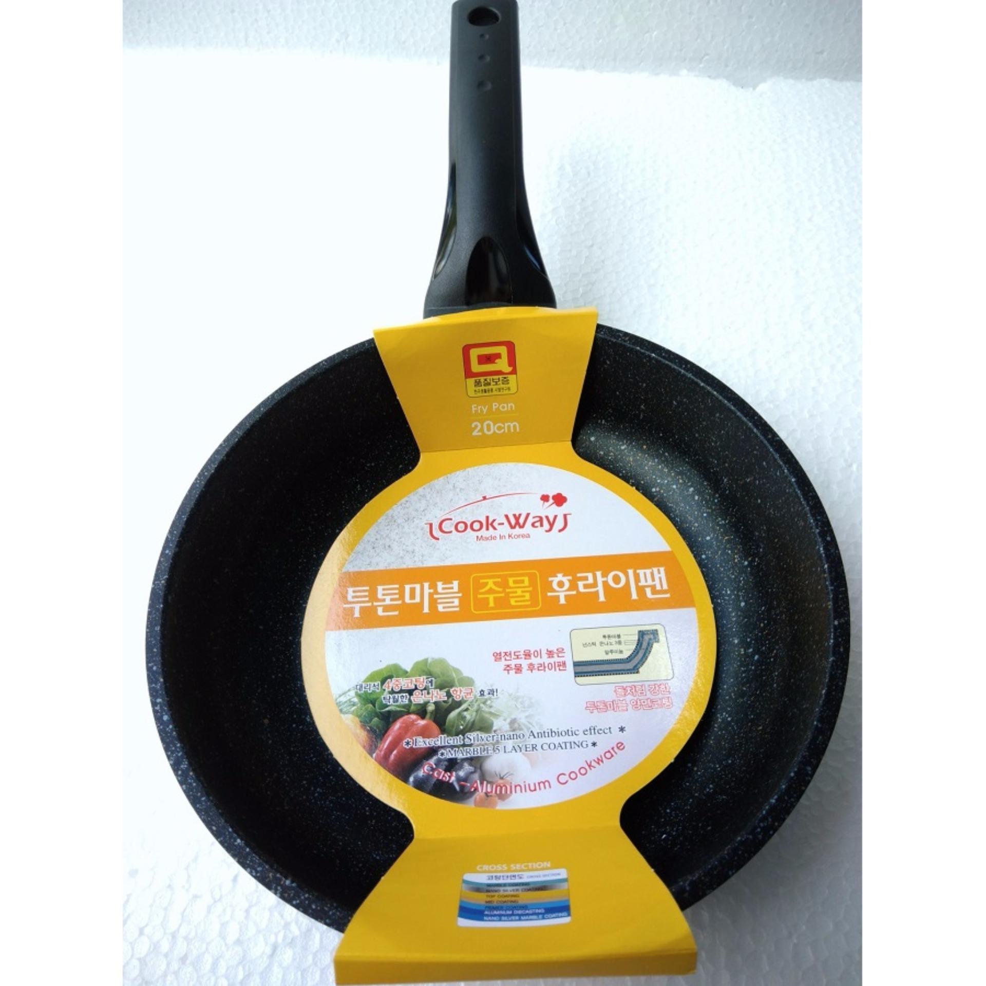 Chảo đá Nhập Khẩu Hàn Quốc cạn chống dính size 20cm Cook WaySSFM4-20cm