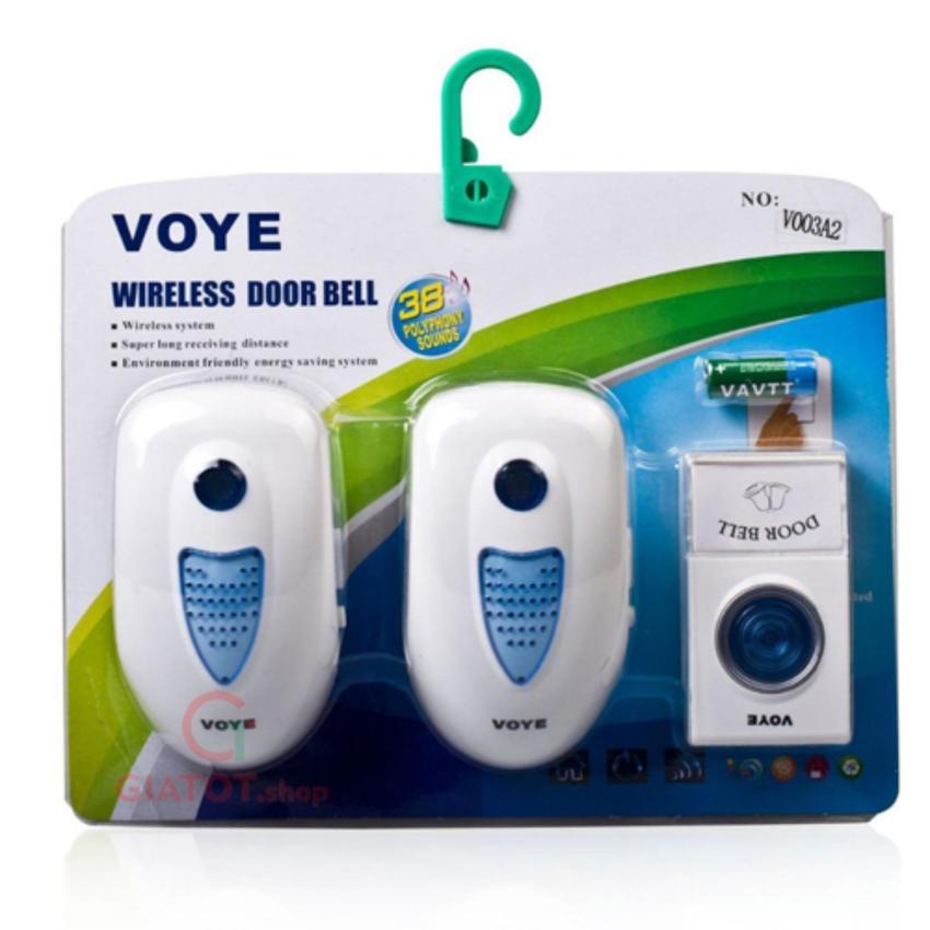 Chuông cửa đôi không dây dùng điện V003A2