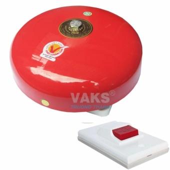 Chuông điện dạng đĩa 6 inch - 85dB + tặng kèm nút nhấn NC6-306