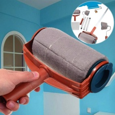 Cocotina 6Pcs/set Paint Roller Brush Handle Pro Flocked Edger Room Wall Painting Runner - intl