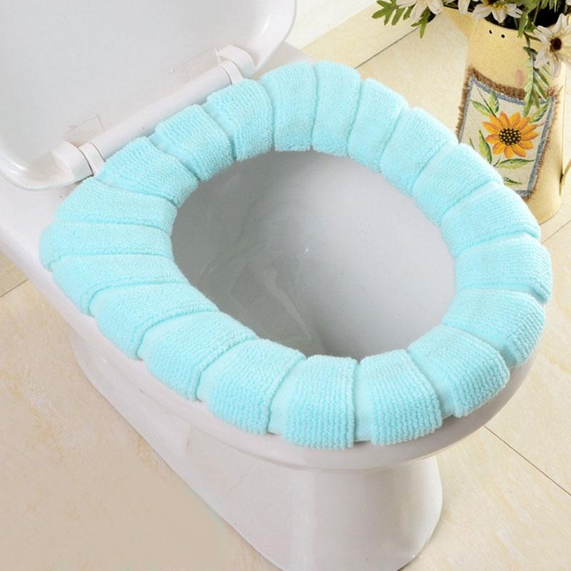 Cocotina Washable O Shaped Toilet Seat Cover Thicken PolyesterWarmer Overcoat Case Tool - intl