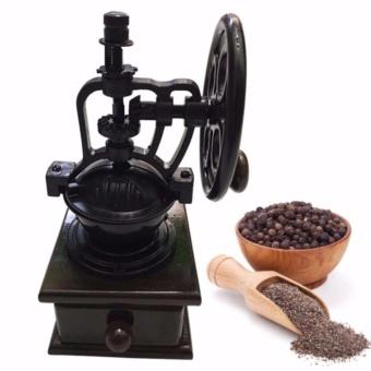 Cối thập niên cổ điển xay tiêu, cafe, đậu có trục quay độc đáo