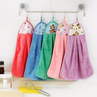 Combo 05 khăn lau tay Cotton mềm mịn thấm hút.