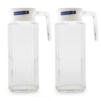 Combo 2 bình nước thủy tinh Luminarc Quadro 1.3L 53808 (Trong suốt)