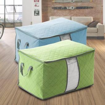 combo 2 Túi vải không dệt da đa năng ( xanh biển )