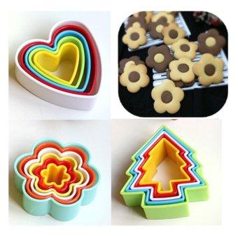 Combo 3 bộ Dụng Cụ Làm Bánh Nghệ Thuật (bông hoa + tim + thông)
